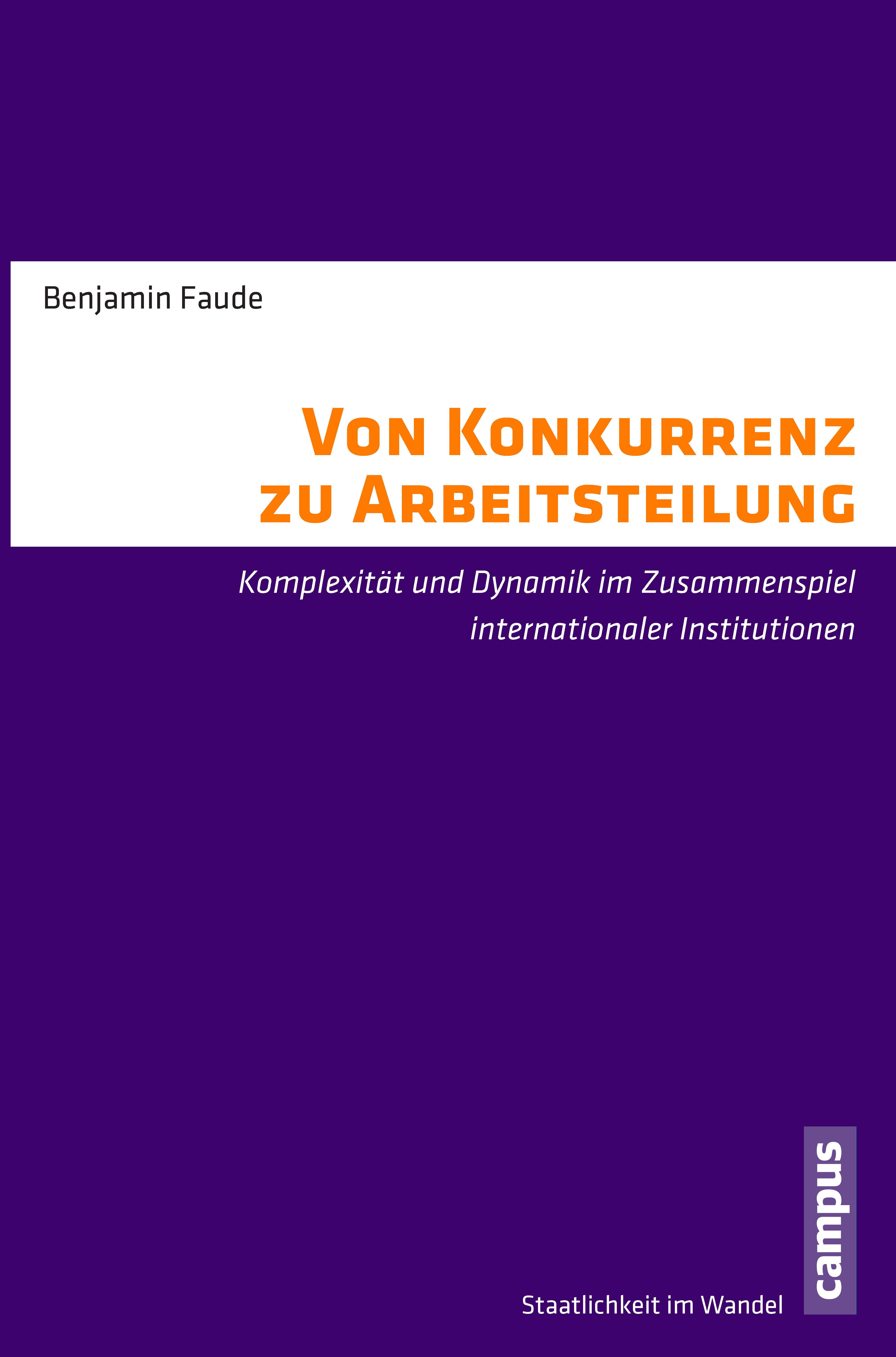 """Book Cover Faude """"Von Konkurrenz zu Arbeitsteilung"""""""